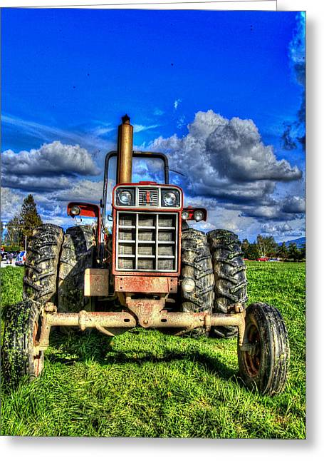 Mud Season Greeting Cards - Coming out of a heavy action tractor Greeting Card by Eti Reid