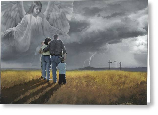 Bible Paintings Greeting Cards - Coming Storm Greeting Card by Danny  Hahlbohm