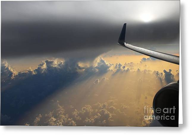 Coming Thru The Storm Greeting Card by Bob Hislop
