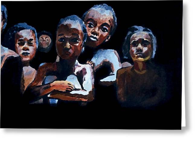 Slavery Paintings Greeting Cards - Coming to America Greeting Card by Jeremy Phelps