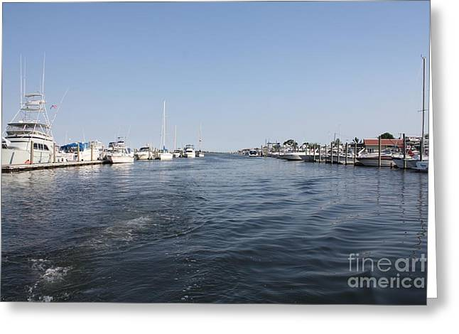 Boats At Dock Greeting Cards - Coming to Port After Fishing Greeting Card by John Telfer