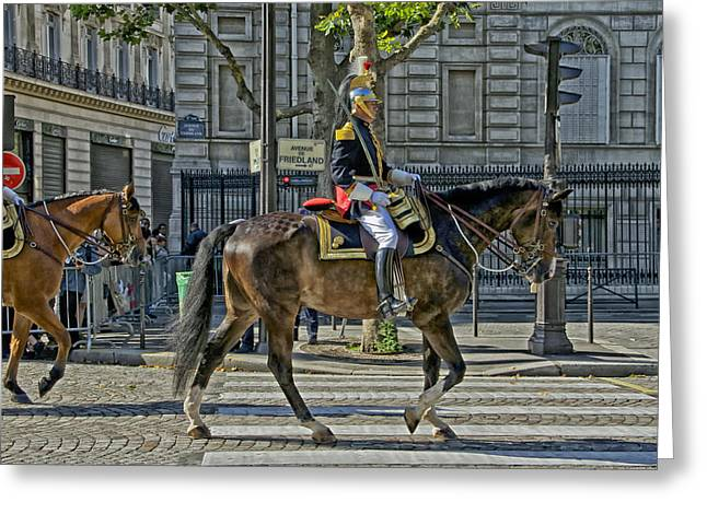Republican Greeting Cards - Commander of the Republican Guard - Paris Greeting Card by Mountain Dreams