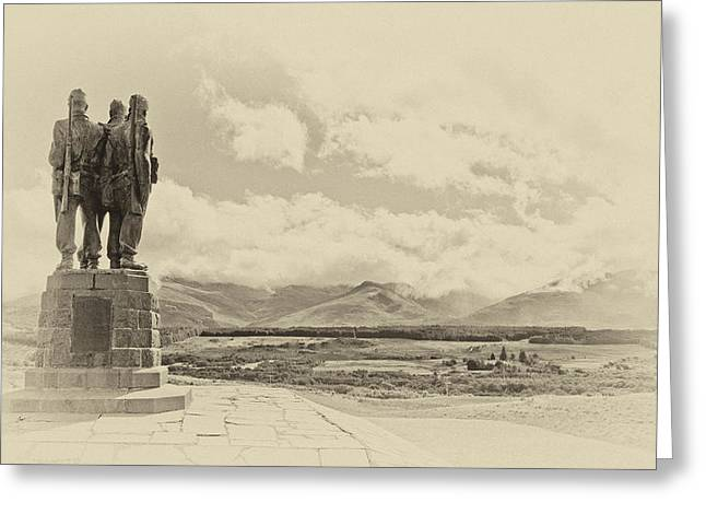 Commandos Greeting Cards - Commando Memorial 3 Greeting Card by Chris Thaxter