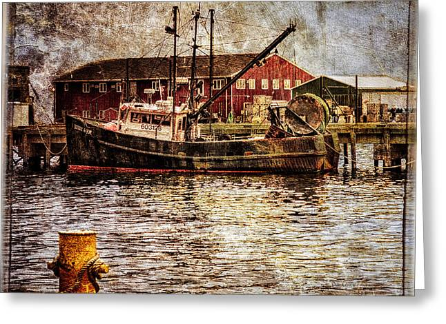 Gill Netter Greeting Cards - Commercial Fishing Boat Greeting Card by Bob Orsillo