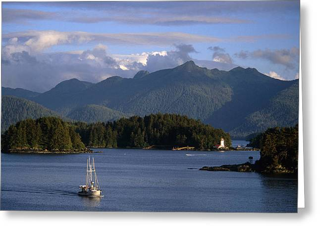 Beautiful Scenery Greeting Cards - Commercial Fishing Boat In Sitka Sound Greeting Card by Mark Kelley