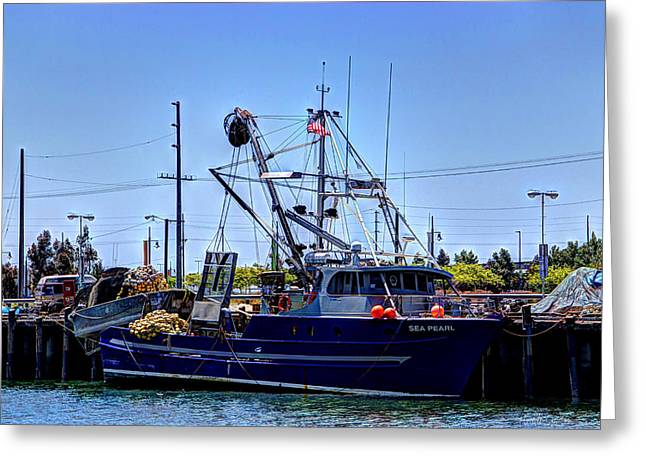 Commercial Fishing - Sea Pearl Greeting Card by Heidi Smith