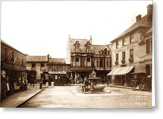 Camborne Greeting Cards - Commercial Square Camborne England Greeting Card by The Keasbury-Gordon Photograph Archive