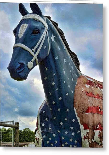 Red White And Blue Digital Greeting Cards - Commerford Entrance Greeting Card by Jeff  Gettis