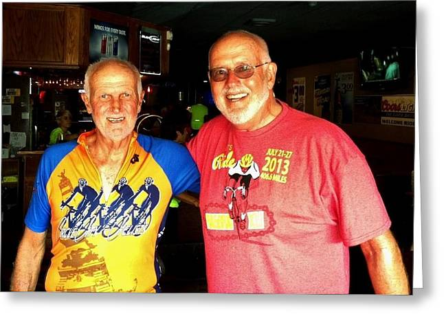 Brotherhood Greeting Cards - Commission Free - RAGBRAI Brothers Greeting Card by Benjamin Yeager