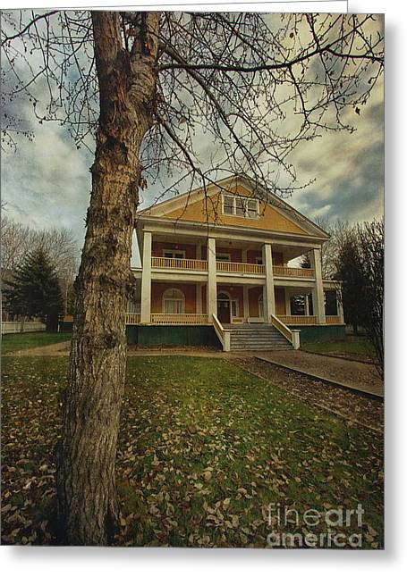 Historic Site Greeting Cards - Commissioners Residence Greeting Card by Priska Wettstein