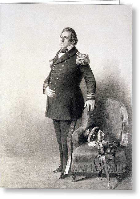 Diplomat Greeting Cards - Commodore Matthew Calbraith Perry Greeting Card by Wilhelm Heine