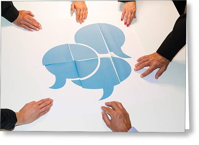 Speech Balloon Greeting Cards - Communication - speech bubbles Greeting Card by Frank Gaertner
