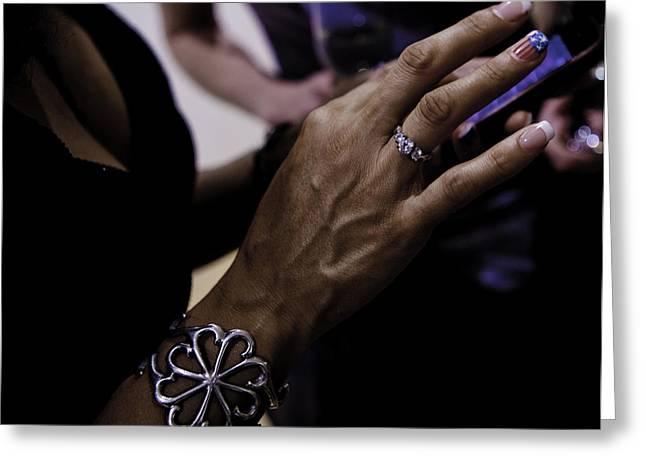 Diamond Bracelet Photographs Greeting Cards - Communication Greeting Card by Ben Aronoff