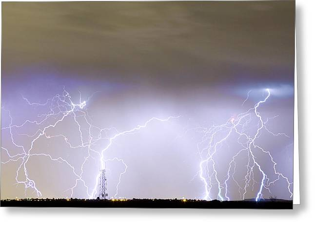 Lightning Gifts Photographs Greeting Cards - Communication Breakdown Greeting Card by James BO  Insogna