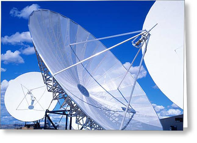 Transmitting Greeting Cards - Communication Satellite Brewster Wa Usa Greeting Card by Panoramic Images