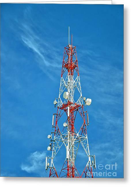 Technical Photographs Greeting Cards - Communications mast hua hin Greeting Card by Antony McAulay
