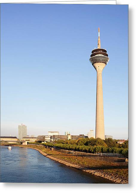 Communications Tower Greeting Cards - Communications Tower At The Riverside Greeting Card by Panoramic Images