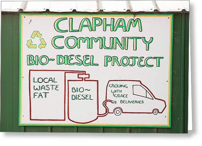 Community Biodiesel Project Greeting Card by Ashley Cooper