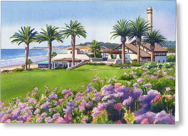 Community Greeting Cards - Community Center at Del Mar Greeting Card by Mary Helmreich