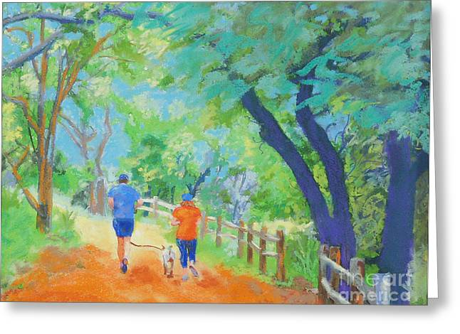 Hamilton Texas Greeting Cards - Community on the Run Greeting Card by Patricia  Collins-Perkey