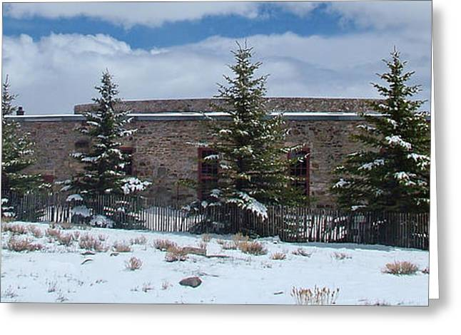 Engine House Greeting Cards - Como Roundhouse Backside Greeting Card by Ken Smith