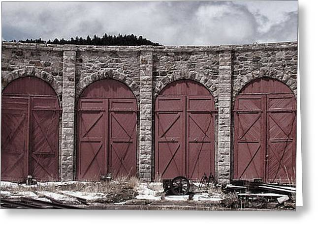 Engine House Greeting Cards - Como Roundhouse Greeting Card by Ken Smith