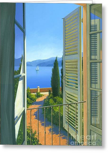 Como View Greeting Card by Michael Swanson
