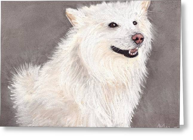 Wolf Pastels Greeting Cards - Companion Greeting Card by Anastasiya Malakhova