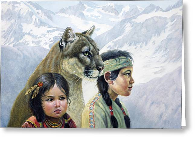 Companions Greeting Card by Gregory Perillo