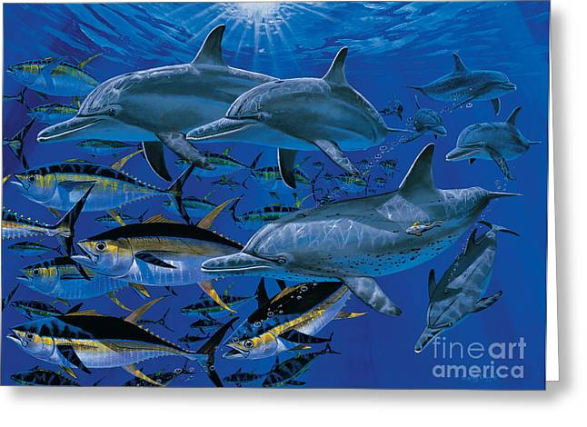 Humpback Whale Paintings Greeting Cards - Companions Off00117 Greeting Card by Carey Chen