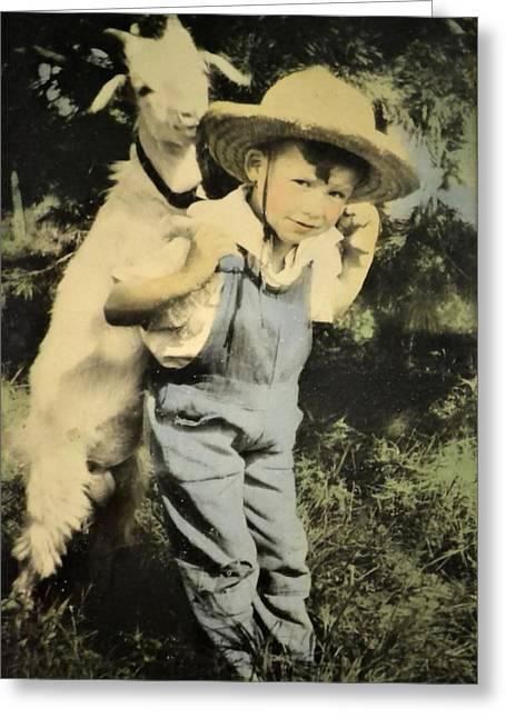 Innocence Greeting Cards - Companionship Greeting Card by Deena Stoddard