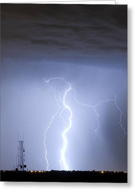 Lightning Gifts Photographs Greeting Cards - Comparing Data Greeting Card by James BO  Insogna