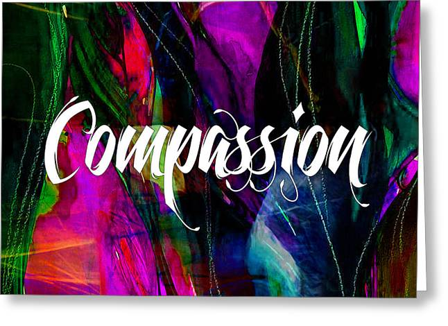 Spiritual Greeting Cards - Compassion Wall Art Greeting Card by Marvin Blaine