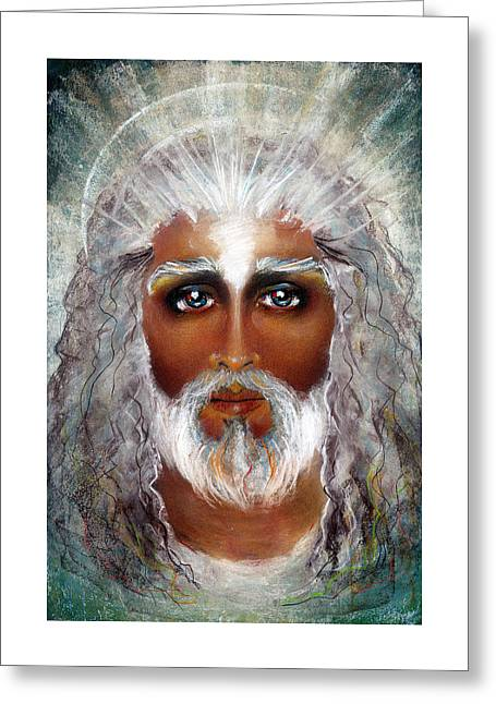 Thomas Pastels Greeting Cards - COMPASSIONATE Pastel Eikons of Christ Greeting Card by Vicki Thomas