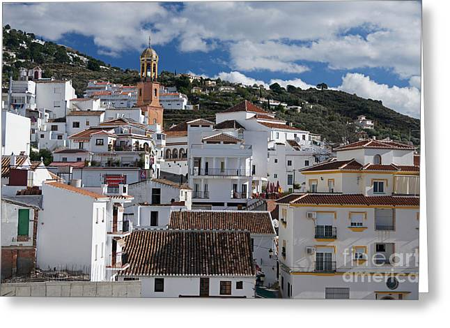 Pueblo Blanco Greeting Cards - Competa in Andalucia Greeting Card by Rod Jones