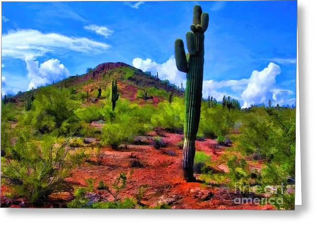 Jon Burch Greeting Cards - Competing Giants - Oil Greeting Card by Jon Burch Photography
