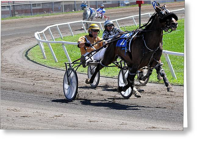 Harness Racing Greeting Cards - Competition Greeting Card by Todd Hostetter
