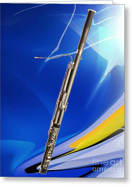 Bassoon Music Instrument Fine Art Prints Canvas Prints Greeting Cards In Color 3410.02 Greeting Card by M K  Miller