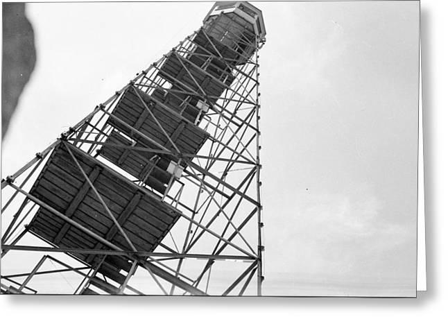 Police Traffic Control Photographs Greeting Cards - Completed Air Traffic Control Tower Greeting Card by Kevin Murphy