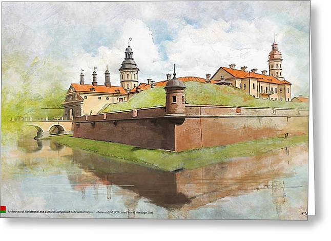 Historic Statue Paintings Greeting Cards - Complex of Radziwill Greeting Card by Ctaf