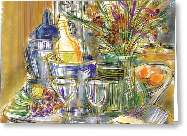 Compliments of Blondie N. Greeting Card by Russell Pierce