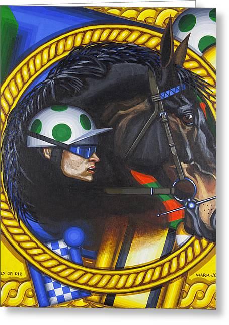 Comply Or Die Greeting Card by Mark Howard Jones