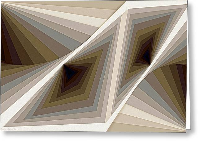 Geometric Greeting Cards - Composition 124 Greeting Card by Terry Reynoldson