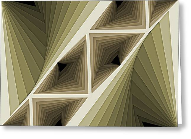 Abstract Pattern Greeting Cards - Composition 132 Greeting Card by Terry Reynoldson