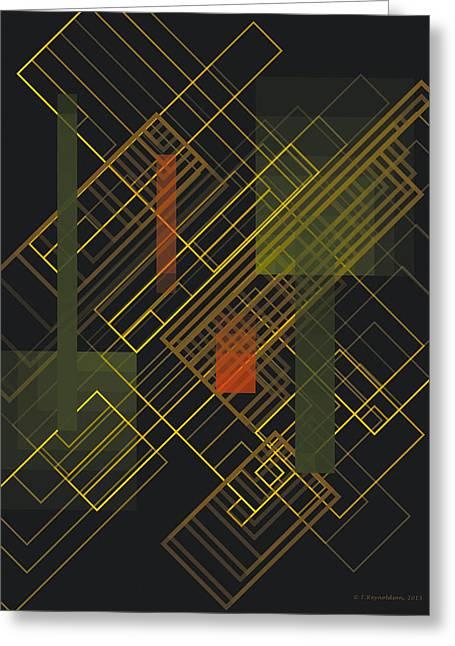 Geometric Art Greeting Cards - Composition 15 Greeting Card by Terry Reynoldson