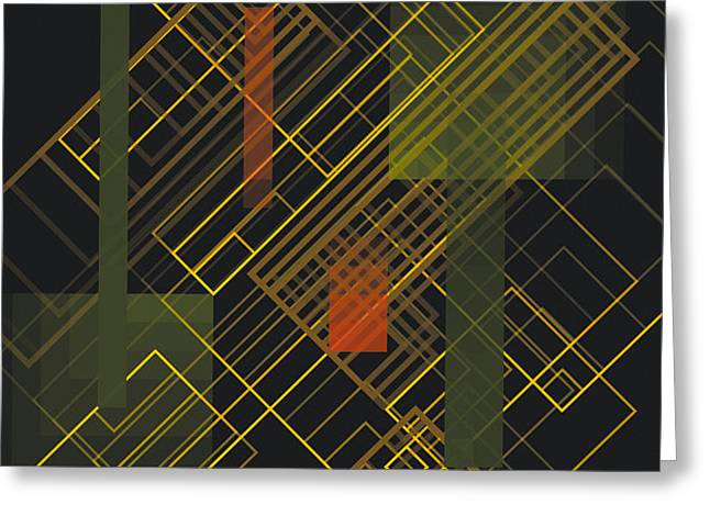 Composition 15 Greeting Card by Terry Reynoldson