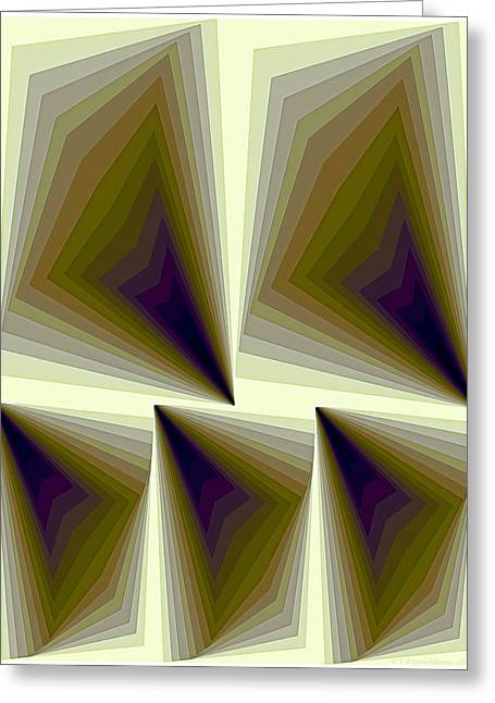 Abstract Pattern Paintings Greeting Cards - Composition 166 Greeting Card by Terry Reynoldson