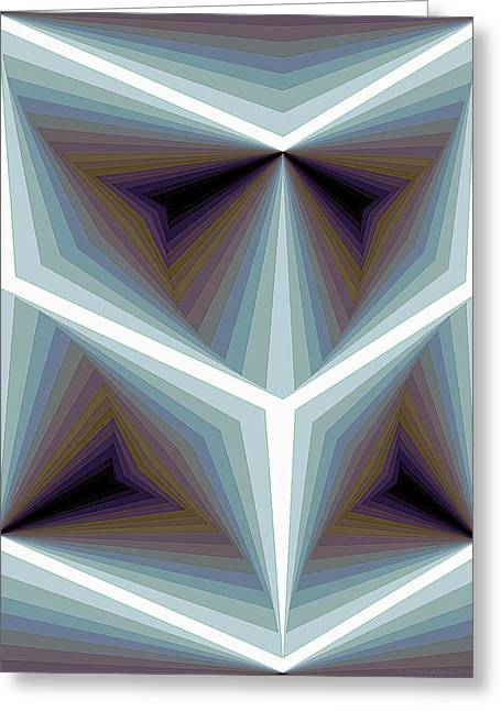 Geometric Art Greeting Cards - Composition 195 Greeting Card by Terry Reynoldson