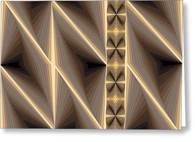 Lines Paintings Greeting Cards - Composition 236 Greeting Card by Terry Reynoldson