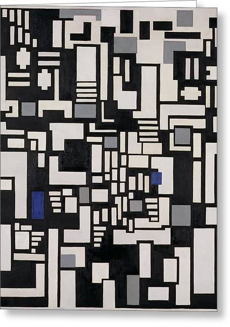 De Stijl Greeting Cards - Composition Ix, Opus 18, 1917 Greeting Card by Theo van Doesburg